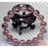 【七月新款】 批发 纯天然紫发晶圆珠手链  发晶手串