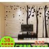 抽象艺术树无妨纸 年轻时尚 砖头木纹大型无缝电视背景墙厂家直