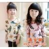 爆款厂家 品牌童装 新品上市 女童衫长袖 韩版纯棉蝴蝶图案t