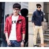 潮流图案 韩版男青年翻领开衫时尚潮男秋装卫衣外套