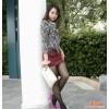 卡韵KAYUN韩版女装短裙,皮革撞料,修身短裙,半身裙203