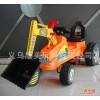 1328-3儿童电动推土机 多功能方向盘音乐电动工程车推土机