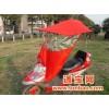 遮阳挡雨蓬折叠电动车折叠电动车遮阳挡雨蓬(小号单层红色+新式雨披+玻璃)