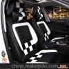 语诺 新款方格碳纤四季专用座垫 超纤皮汽车运动坐垫 奢华 时尚