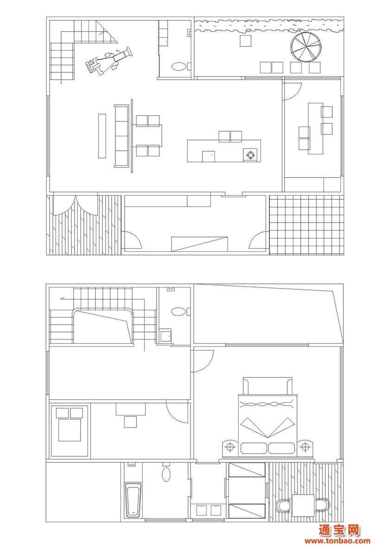 农家住房设计效平面图