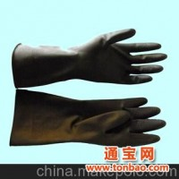 黑色内红工业用橡胶手套