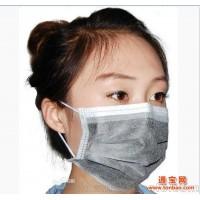 厂家直销 一次性活性炭口罩 四层口罩黑色防尘PM2.5防毒防雾霾