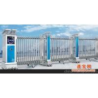 北京伸缩门厂供应不不锈钢遥控电动伸缩门