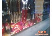 天津静电膜商场静电贴大型玻璃装饰静电贴商场防火玻璃广告静电贴