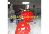 供应玻璃钢草莓雕塑彩绘仿真水果雕塑来图定制