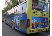 公交车内看板广告济南渠成传媒公交车广告