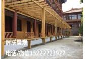 天津防腐木廊架户外长廊景区廊架订制