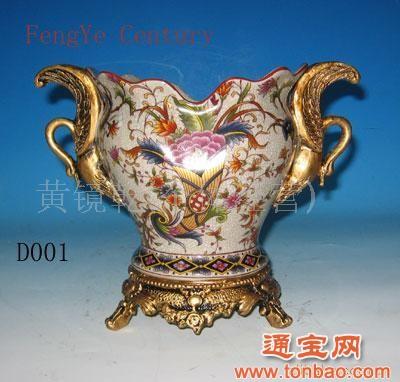 欧式陶瓷花盆 欧式家居室内干花花盆