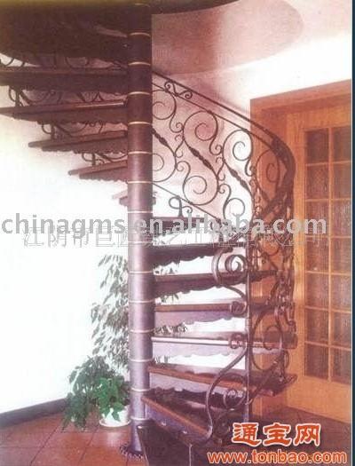 鐵藝旋轉樓梯,鐵藝樓梯,鍛打鐵藝樓梯S5